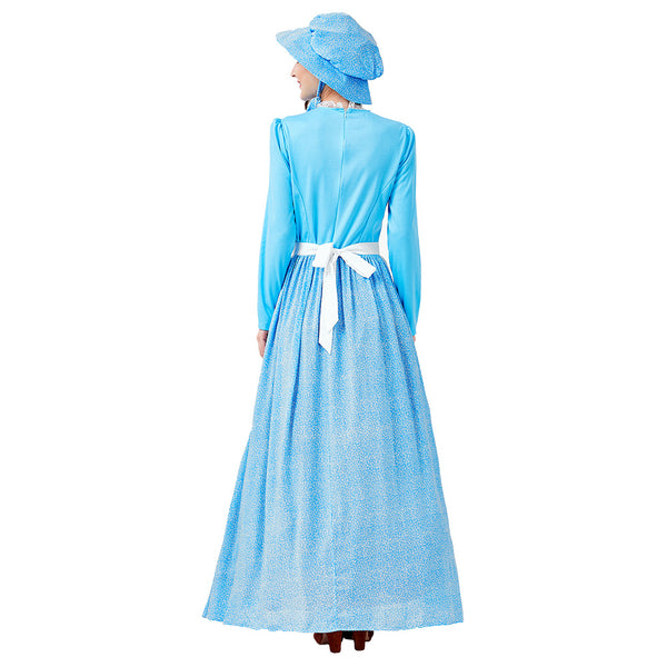 Women Pioneer Dress Colonial Prairie Costume Fancy Dress