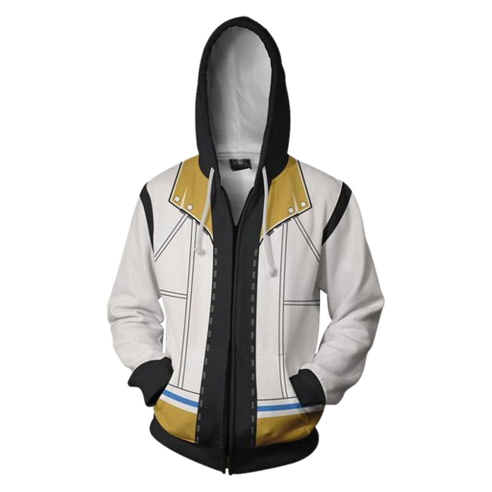 Unisex Roxas Hoodies Kingdom Hearts Zip Up 3D Print Jacket Sweatshirt Style A