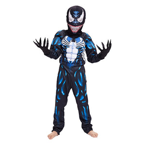 Kids Spider-Man Costume Suit 3D Spandex Venom Jumpsuit Muscle Bodysuit for Halloween