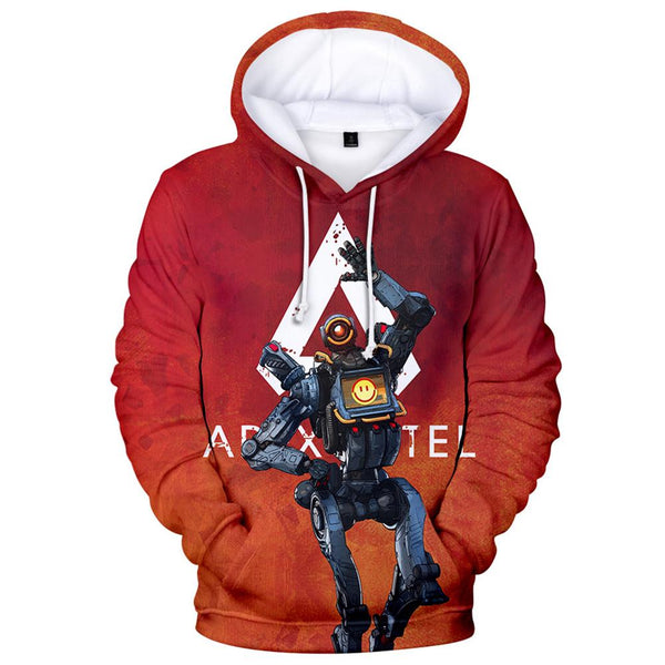 Unisex Pathfinder Printed Hoodies Apex Legends Pullover 3D Print Jacket Sweatshirt