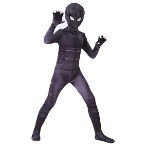 Kids Spider-Man 2 Far From Home Spider-Man Stealth Battle Suit Jumpsuit Cosplay Costume