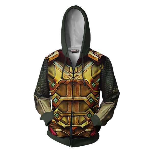 Unisex Mysterio Quentin Beck Hoodies Spider-Man Far From Home Zip Up 3D Print Jacket Sweatshirt