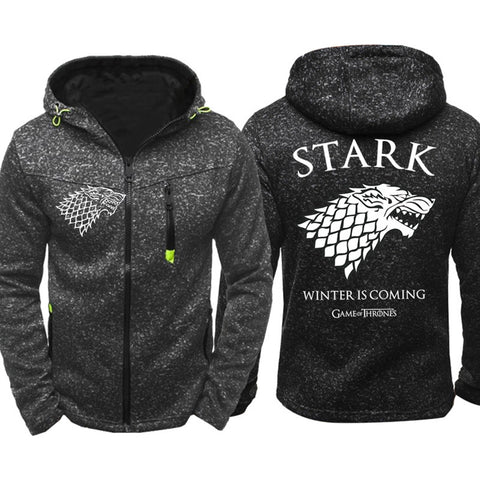 Game of Thrones House Stark Hoodies Men New Zipper Coat Sportswear
