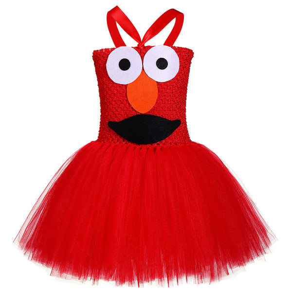 Girls Cookie Monster Dress Costume Halloween Party Tulle Tutu Dress Up