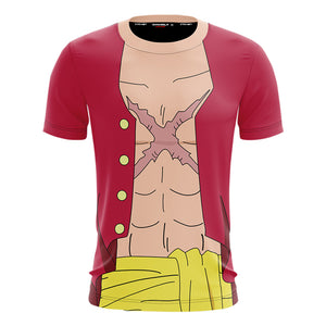 Unisex Anime Merchandise T-shirt One Piece Monkey D. Luffy Short Sleeve Shirt