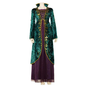 Hocus Pocus Adult Winifred Sanderson Cosplay Costume Women Dress Halloween Carnival Costumes
