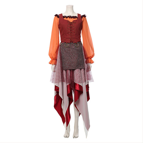 Hocus Pocus Adult Mary Sanderson Cosplay Costume Women Dress Halloween Carnival Party Costumes