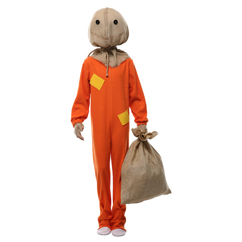 Kids Halloween Trick R Treat Sam The Demon Pumpkinhead Halloween Cosplay Costume