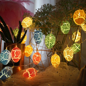 Easter Decorations String Egg LED Lights Fairy Lights Battery Operated Easter Decor Lights for Home Easter Holiday Party