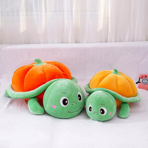 Cartoon Pumpkin Turtle Plush Toy Funny Turtle Plush Doll Household Throw Pillow Lovely Pumpkin Turtle Bolster