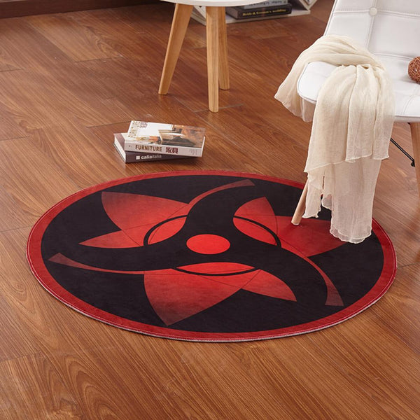 Anime Naruto Sharingan Eye Soft Fleece Cartoon Soft Carpet