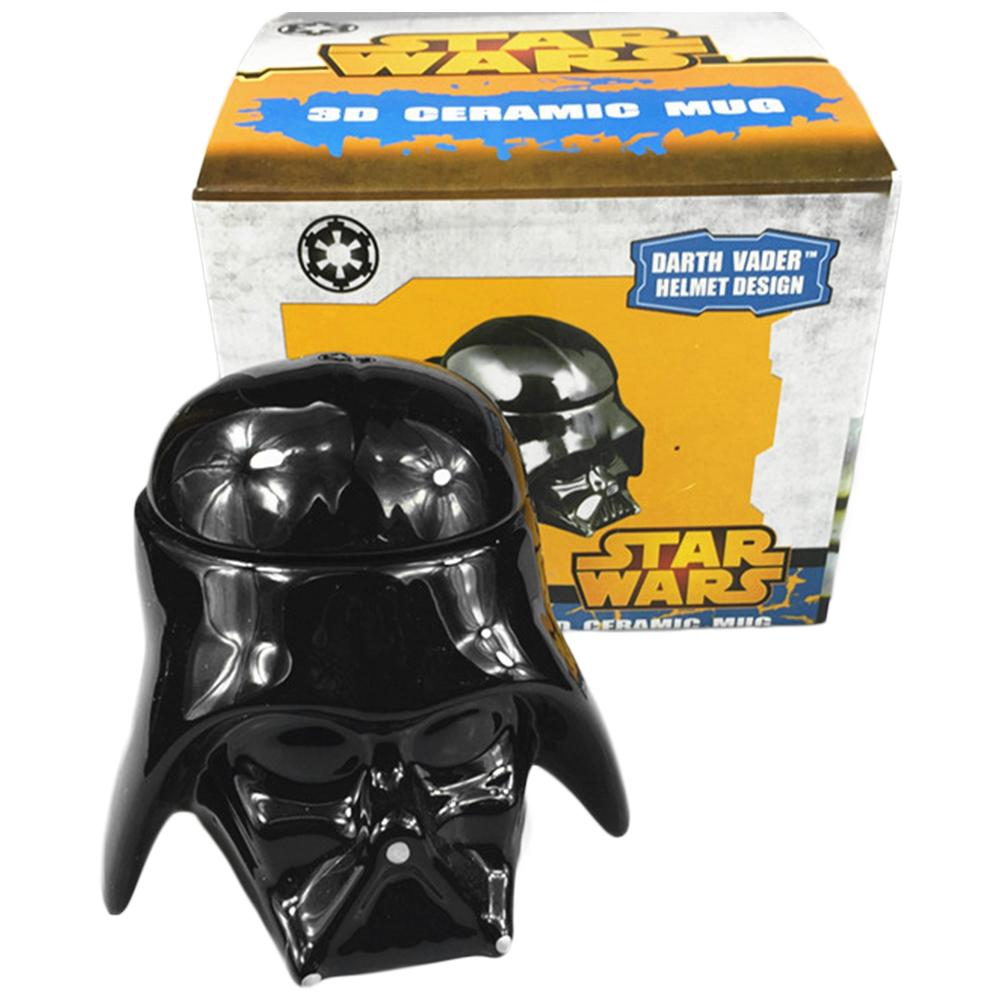 Star Wars Mug - Darth Vader Helmet 3D Ceramic Figural Coffee Mug with Removable Lid