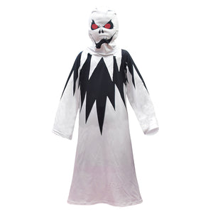 Kids Halloween Costume Skull Skeleton Ghost Cosplay Costumes Carnival Masquerade Dress Robes