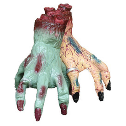 Halloween Crawling Monster Hand Vinyl Lifelike Climb Walking Hand Grabs Toy House Bar Decorations