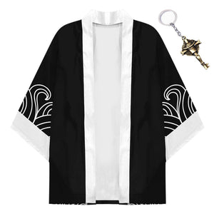 Anime ONE PIECE Kimono Coat Edward Newgate Cosplay Halloween Costume Cloak with Keychain