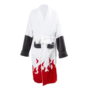 Unisex Naruto Seventh Hokage Cosplay Costume Uzumaki Naruto Cloak Cape Bath Robe Long Coat