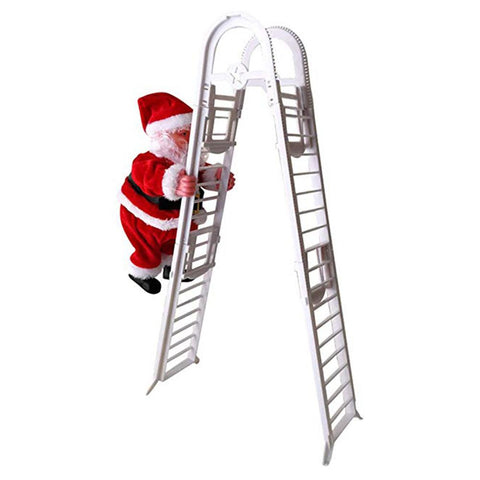 Christmas Electric Climbing Santa Claus Hanging Xmas Ornament Toys Outdoor Indoor Pendant Decoration