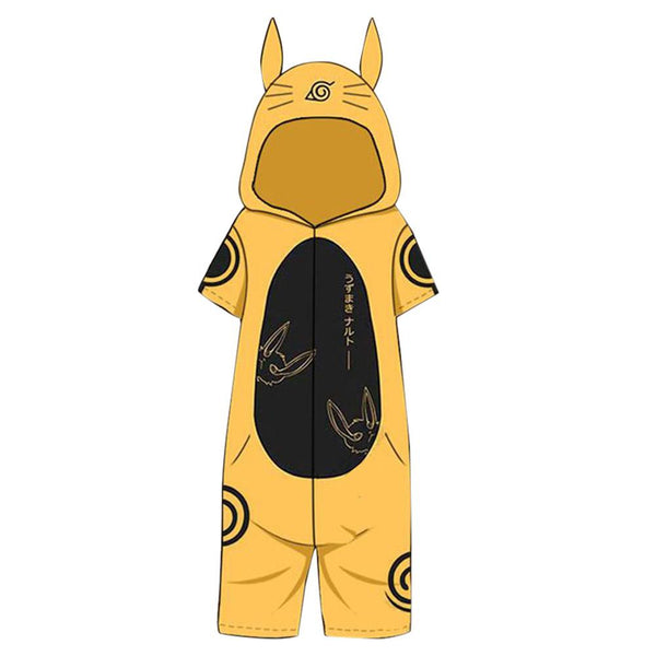 Anime Naruto Uzumaki Naruto Cosplay Flannel Pajamas Bathrobe Hooded Pajamas Rabbit Ear Onesies Suit