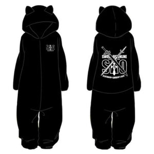 Anime Sword Art Online Cosplay Pajamas Jumpsuit Flannel Warm Thicken Sleepwear Bathrobe Suit