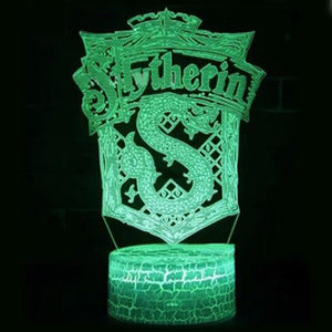 Harry Potter Slytherin LED Lamp for Room Decor Friend Birthday Gift Gadget Night Light Anime Neon Light