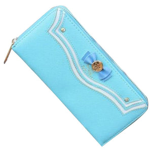 Women Sailor Moon Leather Long Wallet Japanese Fashion Brand Lady Zipper Purse Lovely Handbag
