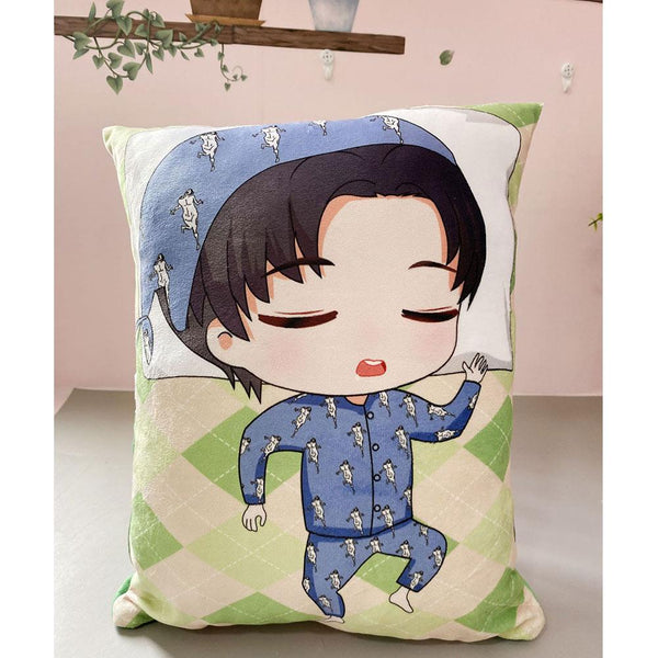 Attack on Titan Plush Toy Stuffed Soft Plush Pillow Cushion Double-sided Pillow Doll Gift