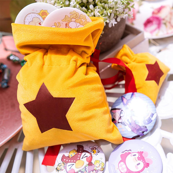 Animal Crossing Mini Drawstring Bell Bag Coin Purse Pocket Cosplay Props