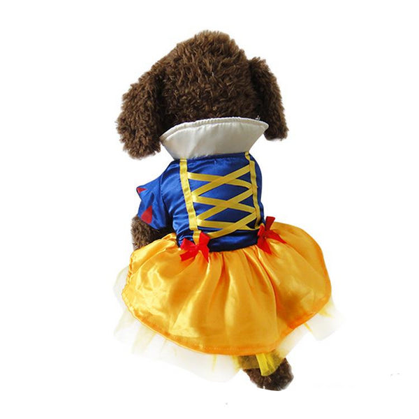 Snow White Pet Costume Princess Puppy Dress Snow White Pet Apparel for Party Special Events Costume
