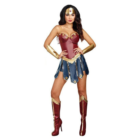 Adult Women Wonder Woman Cosplay Costumes Justice League Superhero Costume Halloween Sexy Fancy Dress