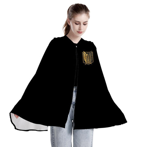 Unisex Attack on Titan Cloak Robe Hooded Cape Survey Corps Cosplay Cloak Clothing