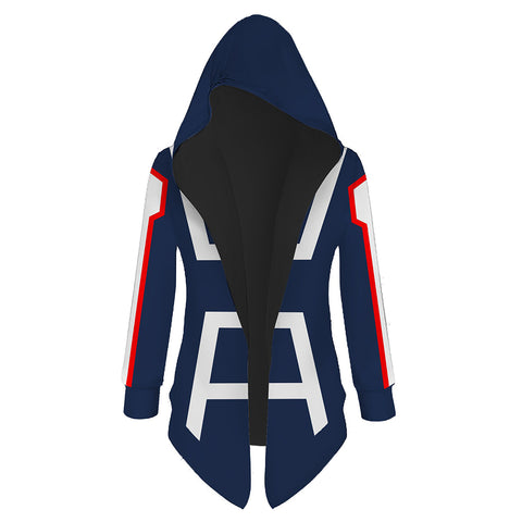 Unisex My Hero Academia Hooded Coat UA Training Suit Cosplay Outwear Wind Jacket