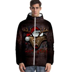 Unisex Christmas Autumn Winter Thick Clothes Short Sweatshirt Velvet Clothing Zip Up Hoodie Cashmere Warm Outfits