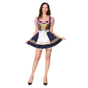 Adult Women Sexy German Oktoberfest Clothing Sexy Beer Wear Dress Apron Suit Maid Uniform
