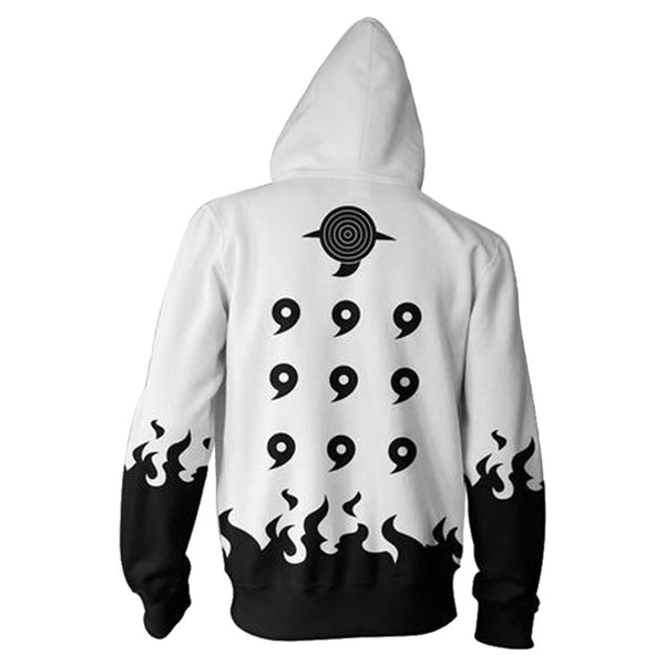 Adult Kyuubi Uzumaki Naruto Hoodies Uniform Jacket Cosplay Hoodies with Zippers