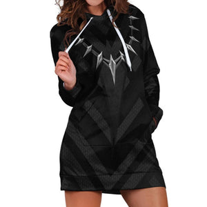 Women T'Challa Cosplay Hoodies Black Panther Pullover 3D Print Long Sweatshirt