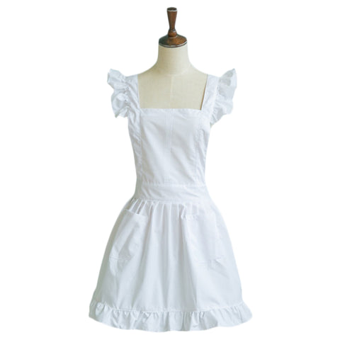 Petite Maid Ruffle Retro Apron Kitchen Cooking Cleaning Fancy Dress Cosplay Costume