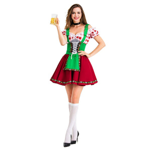 Halloween Women's Maid Costume Beer Girl Maid Dress Sexy Costume