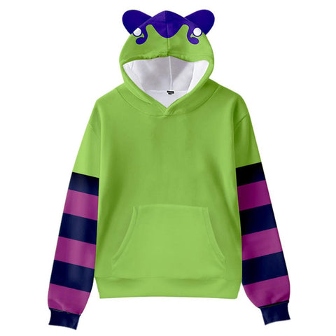 Kids SK8 the Infinity Cat Ear Drawstring Hoodies Miya Chinen Cosplay Pullover 3D Print Sweatshirt