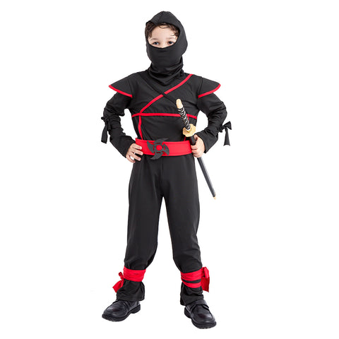 Children's Halloween Costume Ninja Martial Art Warrior Dress Up For Boys/Girls Role Play