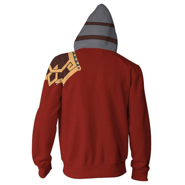 Unisex Hoodies Final Fantasy Zip Up 3D Print Jacket Sweatshirt