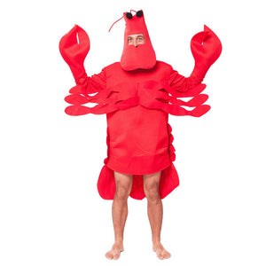 Men's Halloween Lobster Costume Funny Lightweight Stage Performance Outfit