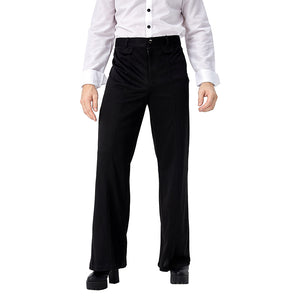Men's 70s Vintage Disco Flared Pants Bell Bottom Trousers