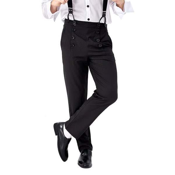 Steampunk Victorian Cosplay Costume Architect Men's Pants Trousers