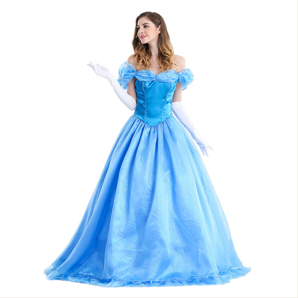 Women's Classic Beauty Fairytale Princess Long Dress Gown Cinderella Party Performance Costume