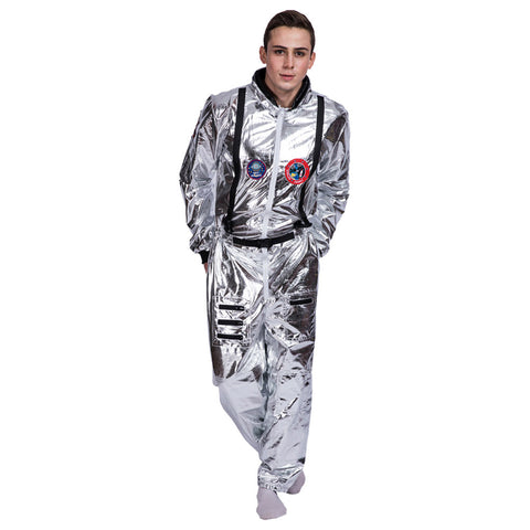 Halloween Men's Astronaut Spaceman Suit Cosplay Costume