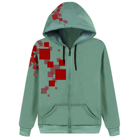 Kids Super Danganronpa 2 Komaeda Nagito Cosplay Hoodie 3D Printed Zip Up Sweatshirt