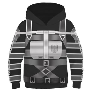 Kids Attack On Titan Final Season Hoodies Survey Corps Cosplay Hooded Sweatshirt Casual Pullover Hoodie