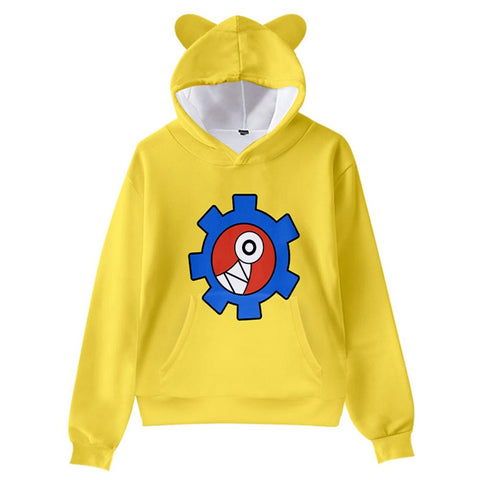 Kids SK8 the Infinity Cat Ear Drawstring Hoodies Reki Kyan Cosplay Pullover 3D Print Sweatshirt