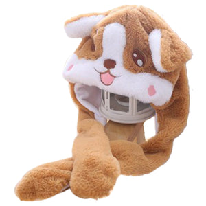 Funny Plush Corgi Hat Cap Party Gift Halloween Christmas Novelty Party Dress up Cosplay