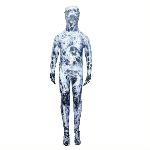 Kids Halloween Horror Mutants Zombies Horrible Cosplay Costume Zentai Bodysuit Suit Jumpsuits